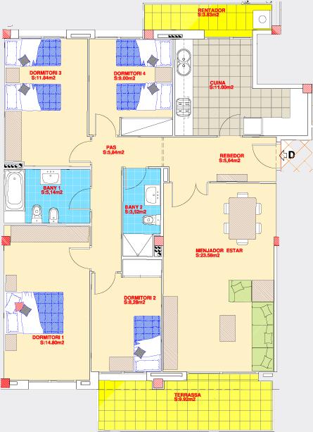Rycsa l mar reial l pisos de 50m2 a 100m2 y solarium l - Constructora reus ...